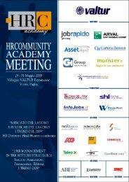 atti del convegno - HRCommunity Academy