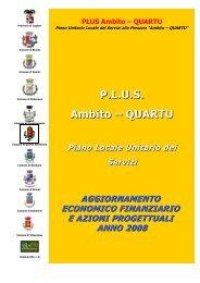 PLUS Quartu aggiornamento 2008 - Sociale - Provincia di Cagliari