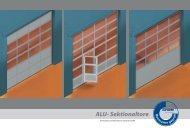 Alpha ALU Sektionaltore - Seiler und Heinzel Rolladenbau