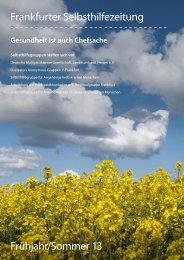 Frankfurter Selbsthilfezeitung - Selbsthilfe-Kontaktstelle Frankfurt e.V.