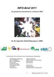 INFO-Brief 2011 - Selbsthilfe-Kontaktstelle Paderborn