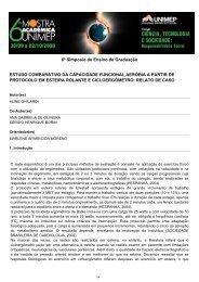 estudo comparativo da capacidade funcional aeróbia a ... - Unimep