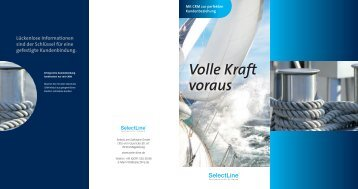 Flyer CRM - SelectLine Software GmbH