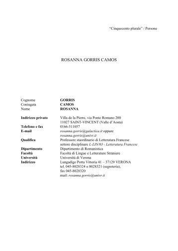 ROSANNA GORRIS CAMOS - Nuovo Rinascimento