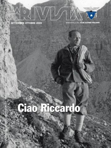 Ciao Riccardo - Club Alpino Italiano