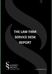 THE LAW FIRM SERVICE DESK REPORT