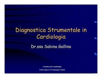 Diagnostica cardiologica - Università Gabriele d'Annunzio