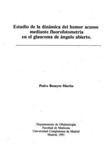 Estudio de la dinámica del humor acuoso mediante fluorofotometría ...