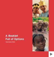 A Booklet Full of Options - Fundraising Profile
