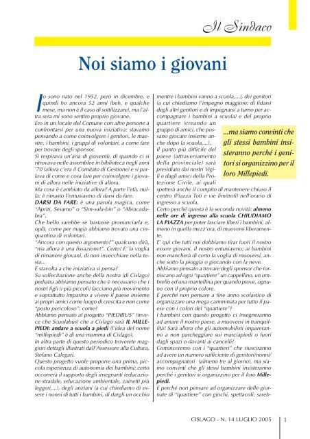 cislago - n.13 luglio 05 C - Comune di Cislago