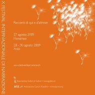 programma completo manifestazione (5,2 Mb) - Festival di narrazione