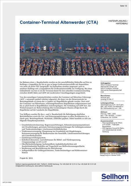 Container-Terminal Altenwerder (CTA), Hamburg (90 KB) - Sellhorn ...