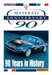 90 Years of History - Maserati Club Schweiz