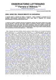 2008: anno del rinascimento in ungheria - Osservatorio Letterario