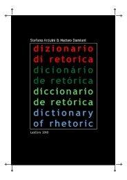 Dizionario di retorica - Livros LabCom - UBI