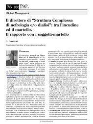 """Il direttore di """"Struttura Complessa di nefrologia e/o dialisi"""": tra l ..."""