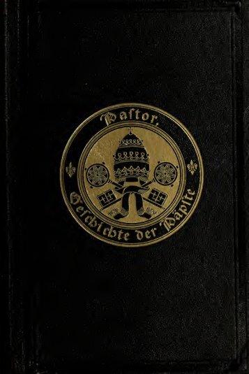 Geschichte der Ppste seit dem Ausgang des Mittelalters