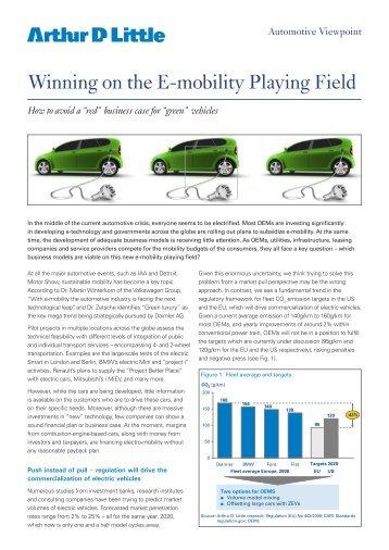 E-mobility by Arthur D Little (pdf) - Semcon