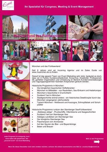 Historische Programme - Event Marketing Agentur am Starnberger ...