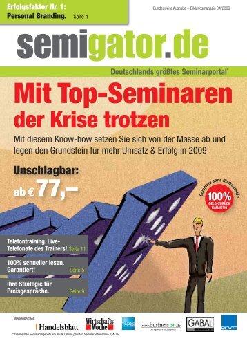 Mit Top-Seminaren - Semigator.de