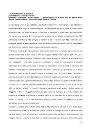 LA TUBERCOLOSI A SCUOLA Leila Bianchi, Claudia Fancelli ...