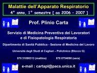 Fisiopatologia respiratoria - Medicina - Università degli studi di ...