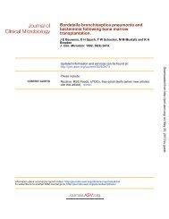 Bordetella bronchiseptica Pneumonia and Bacteremia - Journal of ...