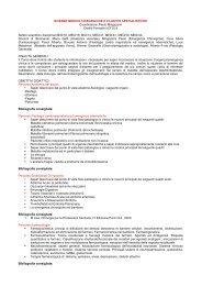 scienze medico chirurgiche e cliniche specialistiche - Medicina e ...