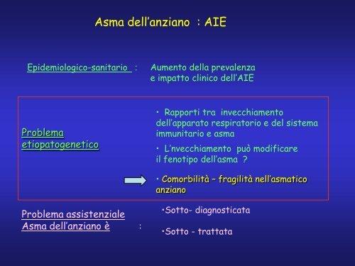 Asma dell'anziano - Associazione Geriatri Extraospedalieri