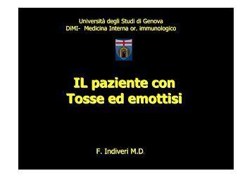 3 tosse ed emottisi - Facoltà di Medicina e Chirurgia - Università ...