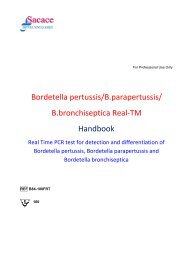 Bordetella pertussis B parapertussis B bronchiseptica Real-TM PCR