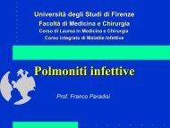Polmoniti infettive - Medicina e Chirurgia - Università degli Studi di ...