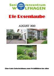 Ausgabe August 2012 - Seniorenzentrum Wolfhagen