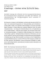 BASF Coatings - SEP Logistik AG