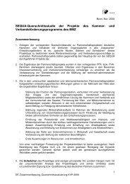 SEQUA-Querschnittsstudie der Projekte des Kammer- und ...