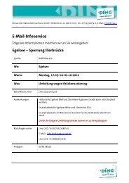 E-Mail-Infoservice - DING - Donau-Iller-Nahverkehrsverbund GmbH