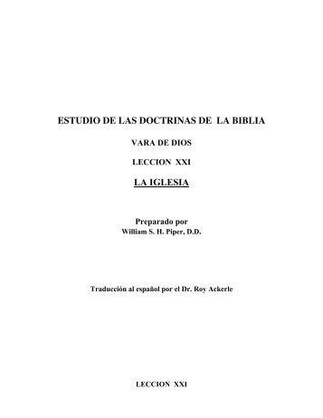 ESTUDIO DE LAS DOCTRINAS DE LA BIBLIA LA IGLESIA