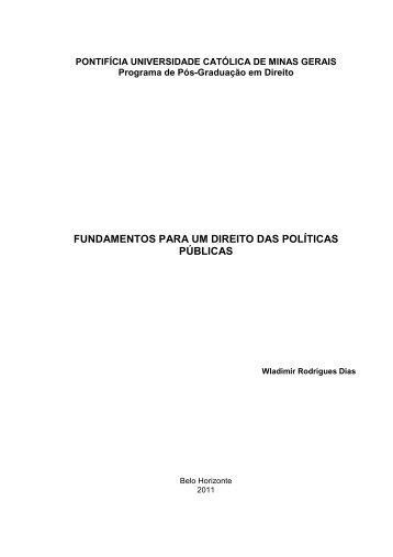 Fundamento para um Direito de Políticas Públicas. - Unisc