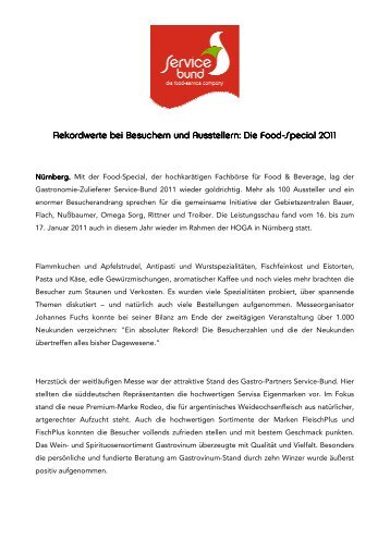 Food-Special_2011 - Service-Bund GmbH & Co. KG