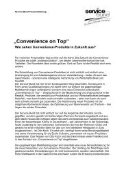 ?Convenience on Top? - Service-Bund GmbH & Co. KG