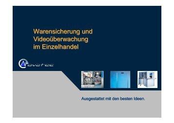 Warensicherung und Videoüberwachung im Einzelhandel - ZGV