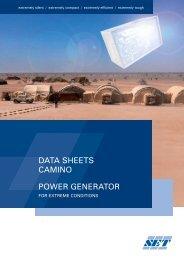 power generator data sheets camino - Stange Energietechnik GmbH