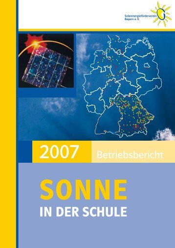 Jahresbericht 2007 (PDF) - Solarenergieförderverein Bayern e.V.