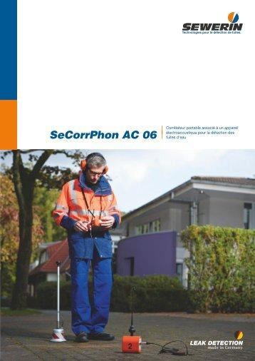 SeCorrPhon AC 06 - Corrélateur portable associé à un ... - Sewerin
