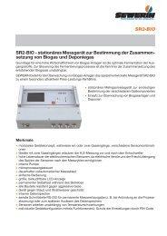 SR2-BIO SR2-BIO - stationäres Messgerät zur ... - Sewerin