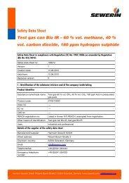 Safety data sheet test gas can Bio IR - Sewerin