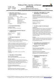 Méthane (CH4), comprimé, extrêmement inflammable - Sewerin
