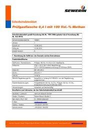 Methan, 100 Vol.-%, Prüfgasflasche 0,4 l - Sewerin
