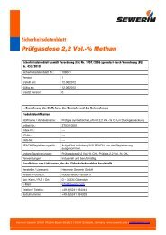 Sicherheitsdatenblatt Prüfgasdose 2,2 Vol.-% Methan - Sewerin