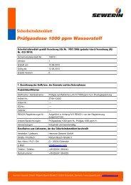 Sicherheitsdatenblatt Prüfgasdose 1000 ppm Wasserstoff - Sewerin